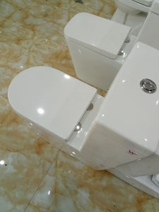 Sanitaryware Bathroom Wall Faced Ceramic Two Piece Toilet pictures & photos