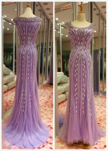 Purple Top Sale EU 32-40 Heavy Beading Evening Dress pictures & photos