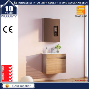 Customized Wooden Veneer Bathroom Furniture Cabinet with Wash Basin pictures & photos