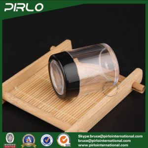 10g Black Empty Plastic Cosmetic Jar Pot with Powder Sifter Loose Powder Container Cosmetic Loose Powder Jar with Sifter pictures & photos