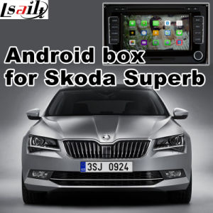 GPS Android GPS Navigation Box for Skoda Superb Video Interface pictures & photos