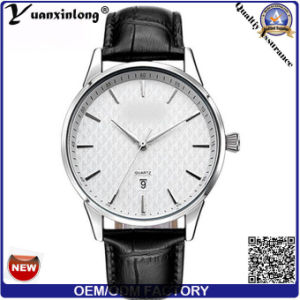 Yxl-001 2017 Fashion Stainless Steel 316L Case Simple Design Leather Band Men Business Wrist Watch Hand Promotion Watch pictures & photos