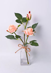Beautiful Rose Flower Bouquet in Glass with Faux Water