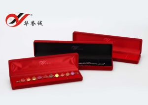 Rectangle Red Velvet Bracelet Necklace Chain Box pictures & photos