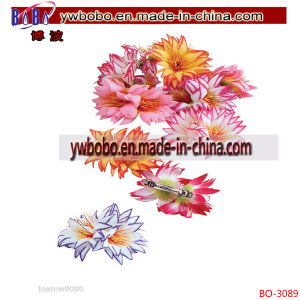 Holiday Decoration Hawaiian Hula Handmade Flower Plastic Clips (BO-3089) pictures & photos