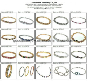 2017 925 Sliver Bracelet with Oval Stone Bt6666 pictures & photos