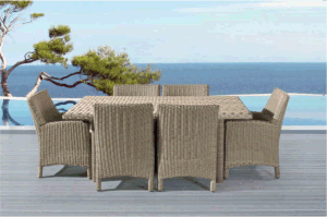 Round Rattan Outdoor Leisure Table with Rattan Chair pictures & photos