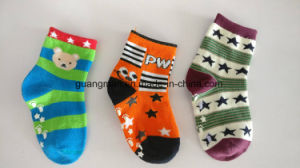 High Quality Lovely Wholesale Baby Sock Kid Sock Cotton Polyester Spandex Sock pictures & photos