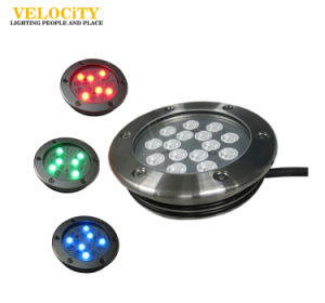 High Power Full Color Change IP68 Stainless Steel LED Underwater Fountain Waterproof Light