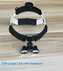 Surgical LED Headlight Dental Loupes 2.5X with Rechargeable Battery pictures & photos