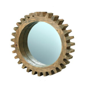 Gear Shape solid Wood Mirror Frame Unique Wall Decor pictures & photos