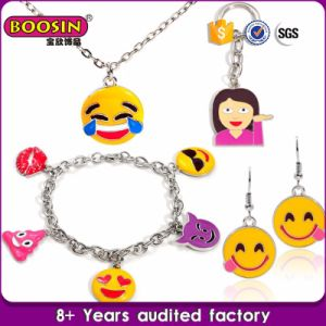 Personalized Alloy Attractive Emoji Enamel Jewelry Sets pictures & photos