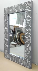 Home Decorative Gel Paint Wall Art Grey Wall Mirrors (LH-M17015) pictures & photos