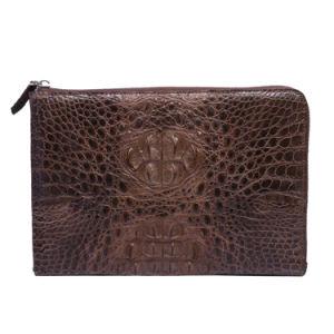 Men Clutch Evenlope Bag Genuine Crocodile Leather Wristlet Travel Wallet pictures & photos