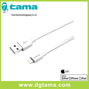 1.2m for Apple Mfi USB Cable Data Transmission Charger Cable White Flat Cable pictures & photos