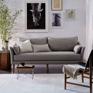 Modern Home Furniture Leisure Wooden Fabric Sofa pictures & photos