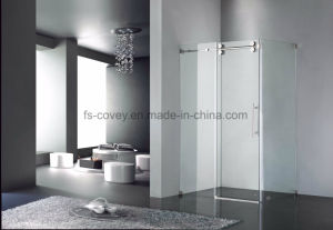 Sliding Shower Door with Double Side Easy Clean Tempered Glass