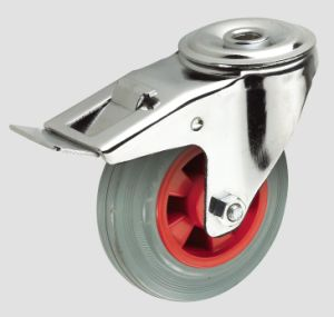 8inch Industrial Caster Rubber Wheel Caster with Brake pictures & photos