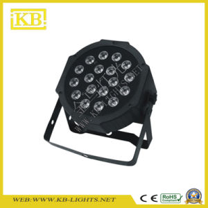 Indoor 18PCS*9W 3in1 Flat PAR Light Stage Lighting pictures & photos