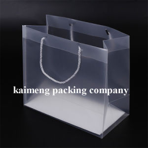 Gift Promotion Plastic Folding Clear PP Bags with Handle (clear PP bags)