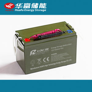 12V100ah High Quality Maintenance Free Battery for Solar Street Light pictures & photos