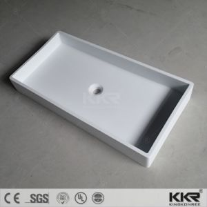 Modern Design Customized Hotel Bathroom Stone Basin pictures & photos