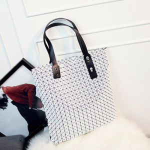 White Rhombic Silica Gel Ladies Bag (A0116-5)