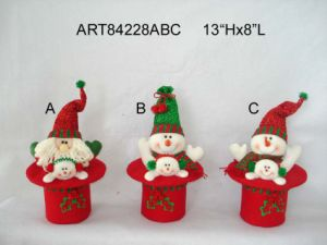 Christmas Decoration Santa and Snowman Hat Gift-2sst pictures & photos