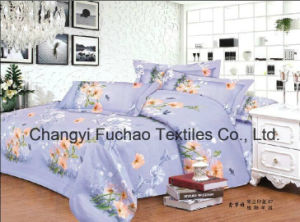 China 100% Polyester Microfiber Printed Bedding Set Used for Home or Hotel pictures & photos