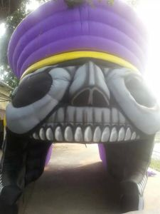 Skull One Eye Pirate Custom Inflatable Blast Tunnel pictures & photos