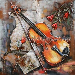 3D Metal Painting for a Girl Playing Violoncello pictures & photos