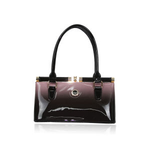 2016 New Arrival Pink Patent Two-Tone Handbag for Women pictures & photos