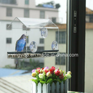 Wholesale Window Bird Feeder House with Sliding Feed Tray pictures & photos