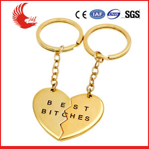Factory Custom Souvenir Heart Shaped Couple Keychain pictures & photos