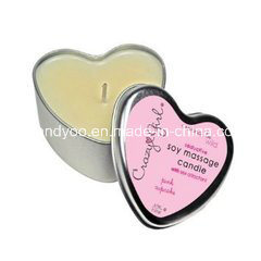 Heart-Shaped Scented Soy Decorative Christmas Candle in Tin