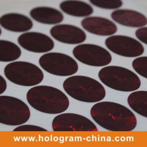 Round Holographic Rainbow Color Laser Label Sticker pictures & photos