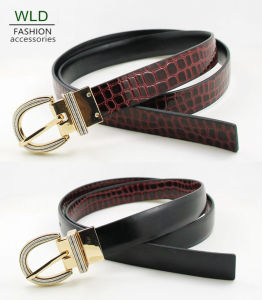 Classic Style Snake Skim PU Belt Ky5959 pictures & photos