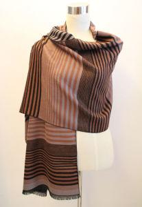 Lady Fashion Viscose Woven Jacquard Fringed Shawl (YKY4416-2) pictures & photos