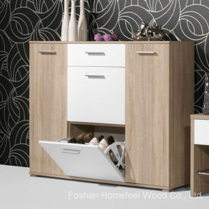 Customized Wooden Shoe Cabinet (HF-EY08145) pictures & photos