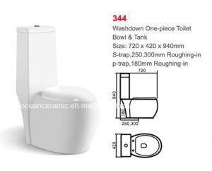 Ceramic Washdown One-Piece Toilet (No. 344) pictures & photos
