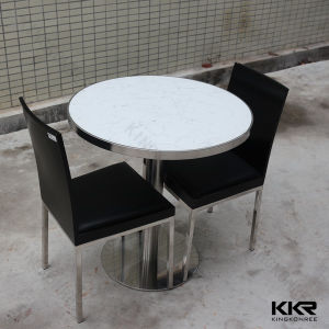China no scratch white round quartz dining table top for Quartz top dining table