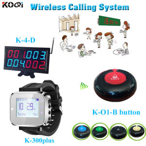 Food Call Buzzer System for Cafe House Counter Display with Watch and Service Button pictures & photos