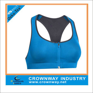 Custom Yoga Wear Women Sports Bra with Front Zip Closure pictures & photos