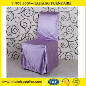 Factory Luxury Banquet Hall Sequin Ruffled Chair Cover Wholesale pictures & photos