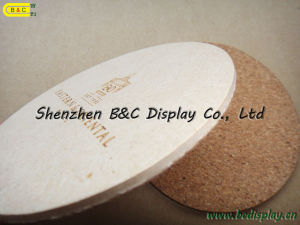 Carving Logo Cup Mat, Sculpture Logo Cork Coaster, Customized Logo Printed Top Quality Cork Coaster (B&C-G070) pictures & photos