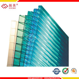6mm Frosted Crystal Green Blue Polycarbonate Hollow Sheet Building pictures & photos