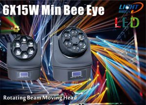 6PCS 15W 4in1 RGBW LED Beam Moving Head pictures & photos