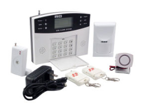 Intelligent Wireless Burglar Alarm Systems LCD GSM with 8 Wired pictures & photos