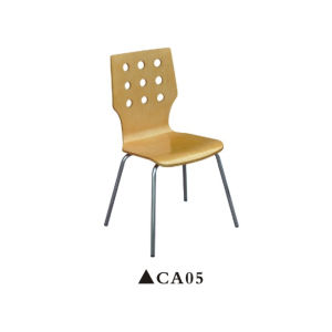 Wooden Dining Room Chair with Stainless Steel Frame pictures & photos