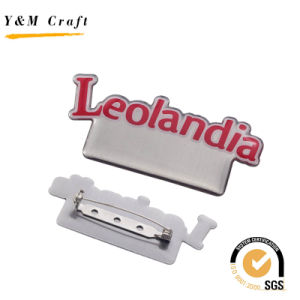 Hot Sale Metal Name Badge Lapel Pin with Epoxy Doming pictures & photos
